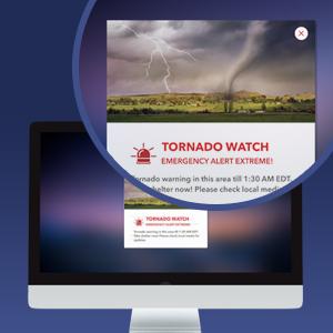 desktop alert for emergencies