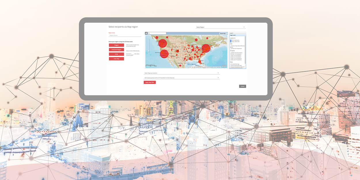 New Mapping Layers Help Regroup Clients Track COVID-19