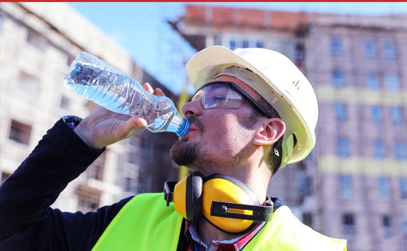 Drinking Water man summersafety